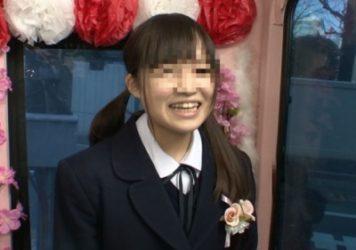 【マジックミラー号】ギリギリセーフ!?卒業式を終えたばかりのウブな女子校生に母校の前でAV出演交渉!【素人】