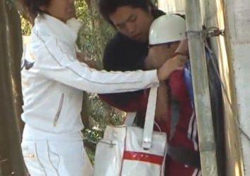 【個人撮影】激ヤバ流出!田舎のヘルメット●学生を襲撃レイプした鬼畜ビデオ