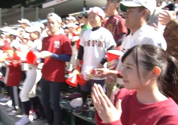 (※写真あり※)第88回選抜高校野球大会で映った 『奇跡の美10代小娘』 がモデル杉と話題 → 即ハボ杉て辛いwwwwwwwwwwww