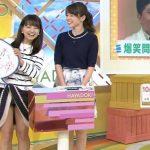 【放送事故】美人お天気キャスター「福岡良子」が生放送中にパンチラハプニング!