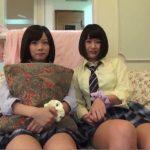 【個人撮影】『彼氏いないから誰のチンチンでも欲しいのw』親友と2人で円光する女子校生の4P動画
