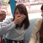 【マジックミラー号】『すご~い大きい!』お花見会場にいたホロ酔い女子大生2人組にフル勃起を見せて3Pへ!