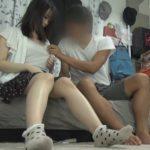 【SEX隠し撮り】『触ってみればいいじゃん!』貧乳をからかった女友達となし崩し的にヤッちゃった一部始終www