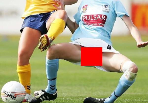 【放送事故】もうお嫁にいけないww女子サッカーの中継で女性器の片鱗が映ってしまう大事故!
