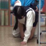 恥ずかしくて声が出せない…図書館で受験勉強中の優等生の処女キツマンに即ハメレイプ!