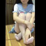 【個人撮影】いいのかこれ…キキララのパジャマを着た少女の自撮りオナニー映像!