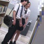 恋愛禁止の部員同士、部活帰り図書館でこっそりデートしてるカップルの彼女を死角でレイプ!