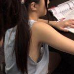 両親不在中の家庭教師…ノーブラタンクトップ姿の教え子JSの貧乳乳首が見えて勃起の限界レイプ!